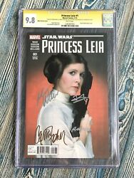 Star Wars Princess Leia 1 Cgc Ss 9.8 Carrie Fisher + 3x Signed Very Rare🔥🔥