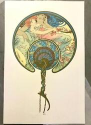 Mucha The Passing Wind Take Youth Away Museum Edition Lithograph Me 5/35 S2 Art
