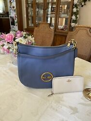 NWT Coach Elle Hobo in Periwinkle with wallet $95.00