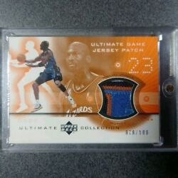 Michael Jordan /100 Jersey Patch 23 Ultimate Collection 2001-02 Upper Deck F5575