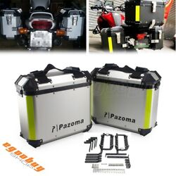 36l Quick Release Motorcycle Trunk Tool Box Luggage Side Saddle Bags Universal