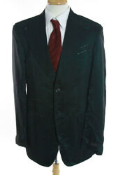 Nwt Mens Billionaire Couture Green Wool Sheer Double Breasted Striped Blazer 42