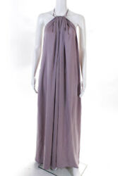 Kaufmanfranco Womens Halter Open Back Maxi Dress Violet Size Small 11277967