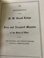 1981 Proceedings Of The Me Grand Lodge - State Of Ohio