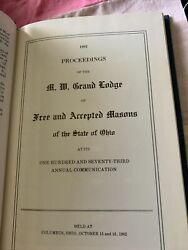 1982 Proceedings Of The Grand Lodge - State Of Ohio