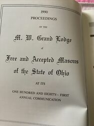 1990 Proceedings Of The Grand Lodge- State Of Ohio