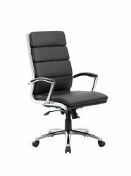 Boss Office Products Caressoftplus Executive Chair Traditional Metal Chrome...