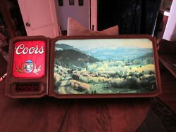 Vintage 1981 Coors Beer Lighted Scrolling Digital Wall Bar Sign Rocky Mountains