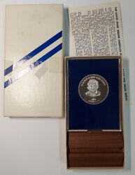 Memory Of David Mark Berger Israel Medal 1 Troy Ounce Pure .999 Silver Coin