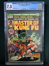 Special Marvel Edition 15 Cgc 7.5, 1st Shang-chi Master Of Kung Fu- Mcu Hot