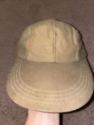 Vintage Filson Tin Cloth Long Bill Hat Cap Made Outdoors Fishing Waxed Canvas S