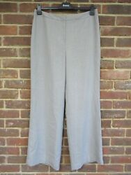 Ann Taylor Light Grey With Stripes Trousers Size 14 Bnwt Rrp 70 [2428]