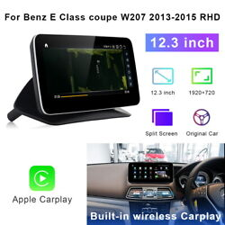 For Benz E Class Coupe 2013-2015 Rhd 12.3 Car Dvd Gps Navigation Radio Stereo