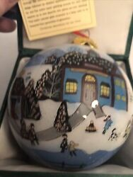 Vintage Lee Hans Blown Glass Hand Painted Christmas Ornament With Tags