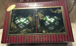 Waterford Holiday Heirlooms, Plaid Heart, Set Of 2, Christmas Ornament, 153776
