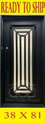 Front Iron Doors With Tempered Glass 38x81