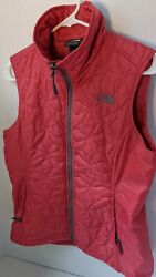 The North Face Insulated Vest Womens M M Pink Red stardiamond Quilted W pockets $49.95