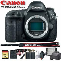 Canon Eos 5d Mark Iv Dslr Camera Intl Model 1483c002 W/bag Extra Battery L