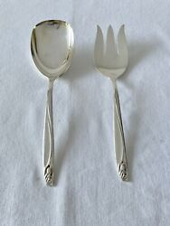 International Deep Silver Anniversary Rose Casserole Berry Serving Spoon And Fork