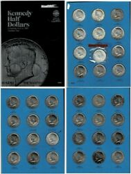 Kennedy Half Dollar Set 1964-1985 Whitman Collection 36 Coins W/ Mint 1970-d
