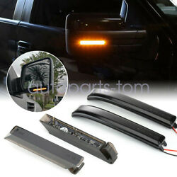 4pcs Sequential Smoked Under Side Led Side Mirror Marker Lights For F-150 09-14