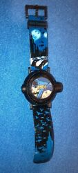 Batman Projection Watch Accutime Black and Blue Plastic Band 2018