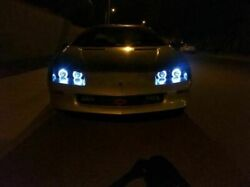 Blue Angel Eye Head Lamps 4 X 55w Light Hi And Lo For 1993-1997 Chevrolet Camaro