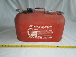 Vintage Evinrude Cruise-a-day 6 Gallon Outboard Boat Gas Can W/ Cap.