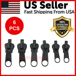Fix Zipper Zip Slider Repair Instant Kit Removable Rescue Replacement Pack of 6P