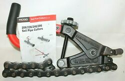 Ridgid Pipe Cutter Ratchet 226 Soil In-place Cast Iron Snap Tube Cutter W/manual