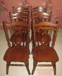 Tell City Set Of 6 Rockport Side Chairs Maple 7076 Paxton 47 Finish Made In Usa