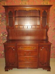 Solid Cherry China Cabinet Brass Grill Tell City Chair Company Dowry Collection
