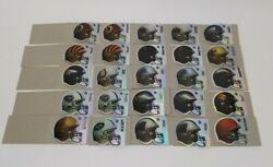 Lot Of 25 3 Official Nfl Helmets Stickers 1999 Shiny Football Teams Collectible