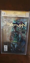 Batman 1 Cgc 9.8 Variant Cover Signed By Scott Snyder New 52 Court Of Owls