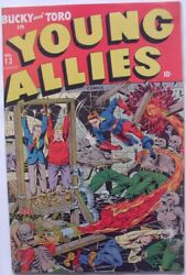 Young Allies 13 Fn+ 6.5 Timely 1944 Schomburg Cover Golden Age