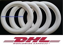 Classic Oldtimer 13 Wide White Wall Portawall Tire Insert Trim Set Of4 075