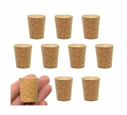 10pk Cork Stoppers Size 11-21mm Bottom 27mm Top 31mm Length - Tapered Sha...