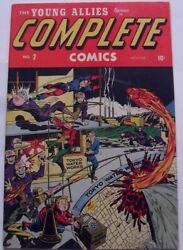 Complete Comics 2 1944/45 Vf- 7.5 Timely Schomburg Cover Golden Age