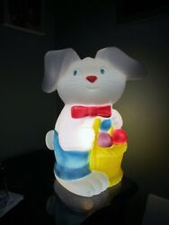 Easter Bunny Cute Vintage Blow Mold Made In Canada Light Included