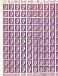 Stamp Germany 06 Pf Adolf Hitler Sheet 1941 Wwii 3rd Reich German Mnh Faults 2