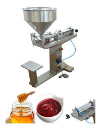 Intsupermai Paste Liquid Filling Machine 5-100ml With Stand For Drink/wine/milk