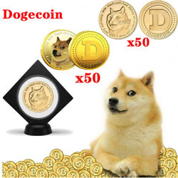 100pc Gilded Dogecoin Limited Edition Gold Doge Coin Collectible Commemorative