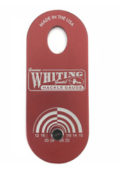 Whiting Farms W-100 Hackle Gauge - Ruby