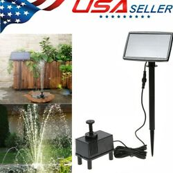 180l/h Solar Power Fountain Submersible Water Pump With Filter Panel Pond Pool