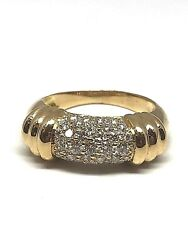Ring Bangle Gold Yellow 18 Carat And Paved Diamonds Tour Of Finger On Demand
