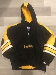 Vintage Starter Pittsburgh Steelers Nfl Zip-up Pullover Football Jacket Youth Xl