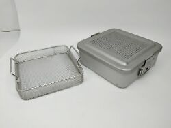 Aesculap Dbp Bund Sterile Container 11x11x3 7/8in With Basket