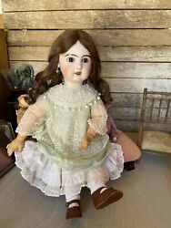 Tandecircte Jumeau Open Mouth Bisque Doll Size 75 Cm 30 Inches Perfect Head
