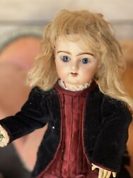 I Antique French Doll Pintel And Godhaux Pg Small Size 36 Cm.