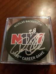Nicklas Backstrom 1000th Game Signed Puck N1ky 1 Of 2 Coa Capitals Sold Out
